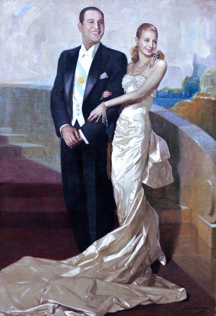 Başkan Juan Peron ve eşi Eva Peron, 1948