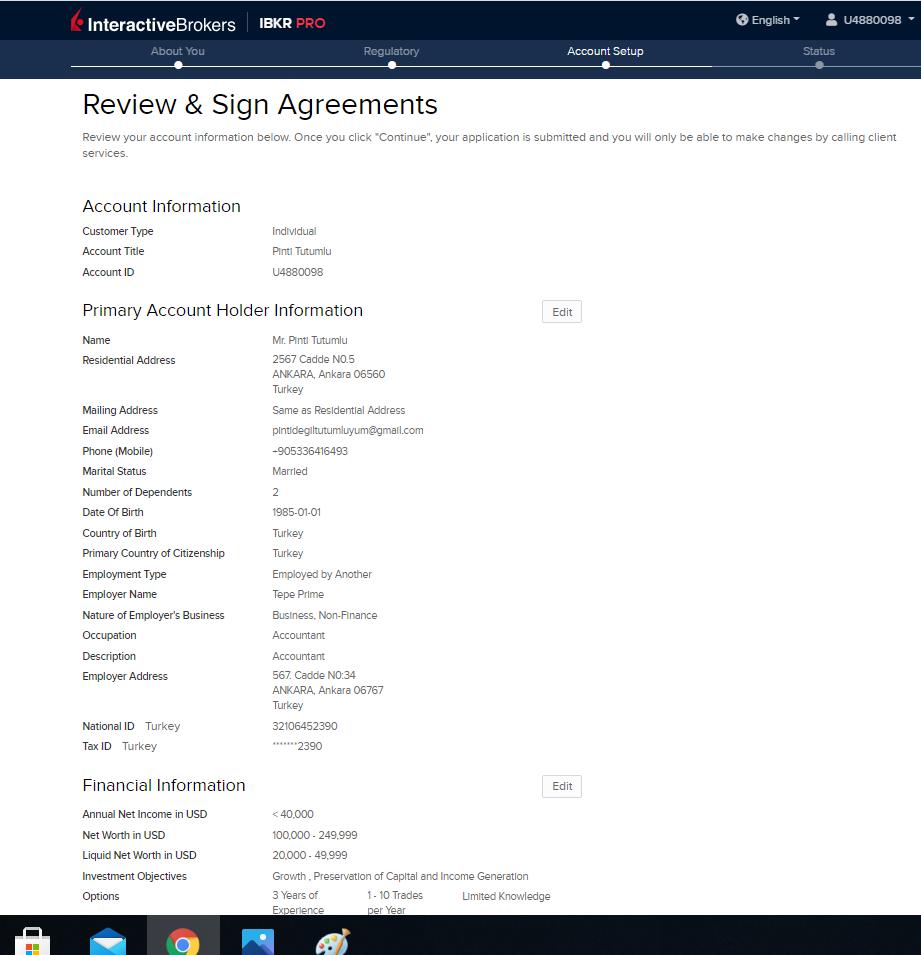 IBKR gözden geçirme ve sözleşmeler (1)
