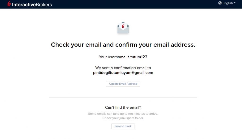 IBKR onay e-postası