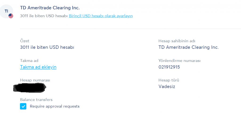 TransferWise'da alıcı kaydı