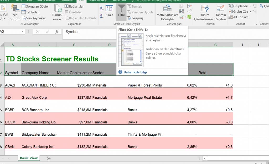 Tarama sonucunu Excel'e aktarma - II